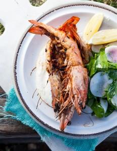Three Blue Ducks Byron Bay Prawn dish